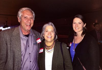 (L to R) Harvey Abouelata, Knoxville Mayor Madeline Rogero, and Erin Gill.